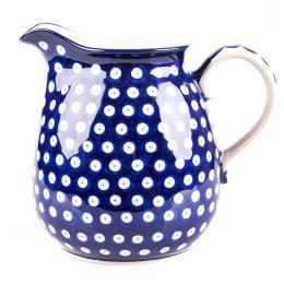 Dzbanek 1,5 l - ceramika Bolesławiec - groszki