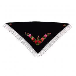 Duża chusta z haftem łowickim