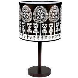 Lampa stojąca FOLK - duża - kurpiowska