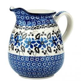Dzbanek 0,9 l - ceramika Bolesławiec - polne kwiaty