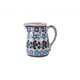 Malutki dzbanuszek - ceramika Bolesławiec - kwiecista rozeta