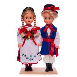 Para kaszubska - lalki ubrane w kaszubskie stroje ludowe | 40 cm
