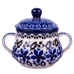 Cukiernica z uszami - ceramika Bolesławiec - polne kwiaty