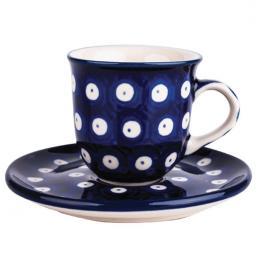 Filiżanka espresso - ceramika Bolesławiec - groszki