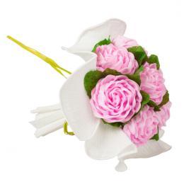 Bukiet z bibuły - jasny różowy