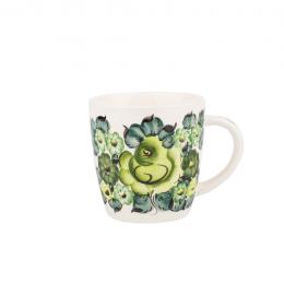 Fajans Włocławek - kubek stożkowy 0,38l - zielony