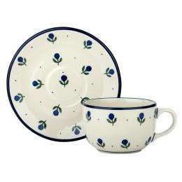 Filiżanka do herbaty - ceramika Bolesławiec- jagódki