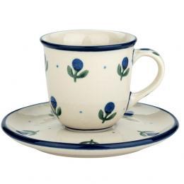 Filiżanka espresso - ceramika Bolesławiec - jagódki