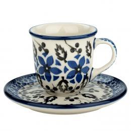 Filiżanka espresso - ceramika Bolesławiec - polne kwiaty