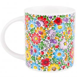 FOLK kubek Janek – ludowe kwiaty z opolskiej kroszonki