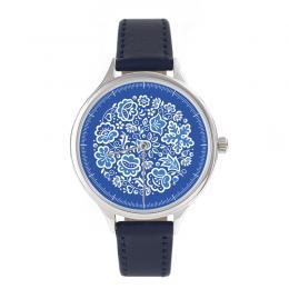 FOLK zegarek damski na skórzanym pasku - wzór kujawski