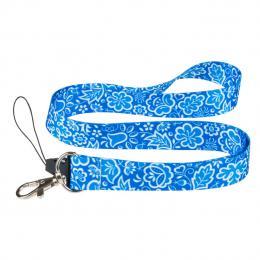 Smycz do kluczy FOLK - kujawska niebieska 2 cm