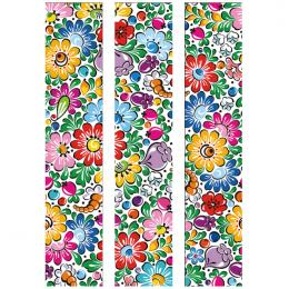 Fototapeta FOLK opolska 150x250cm - duże kwiaty
