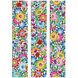 Fototapeta FOLK opolska 150x250cm - średnie kwiaty
