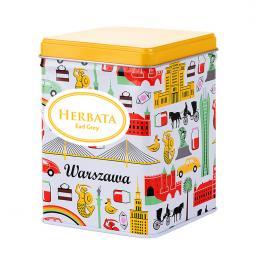 Herbata w ozdobnej puszce - WARSZAWA symbole