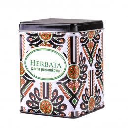 Herbata czarna poziomkowa w puszce - parzenica