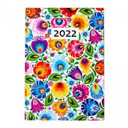 Kalendarz książkowy dzienny 2022 - łowicki biały