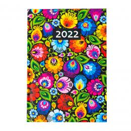 Kalendarz książkowy dzienny 2022 - łowicki czarny