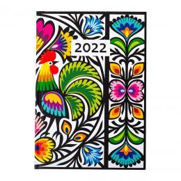Kalendarz książkowy dzienny 2022 - wycinanka kogut