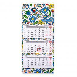 Kalendarz ścienny trójdzielny 2022 - kaszubski