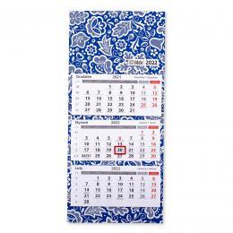Kalendarz ścienny trójdzielny 2022 - kujawski