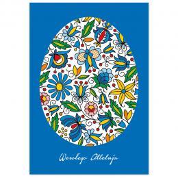 Kartka świąteczna + koperta | FOLK Wielkanoc – kaszubskie hafty