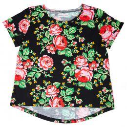 Koszulka damska - góralska czarna