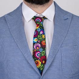 Krawat - łowicki czarny