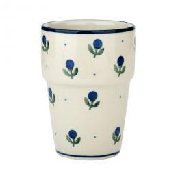 Kubek barowy - ceramika Bolesławiec - jagódki