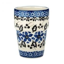 Kubek barowy - ceramika Bolesławiec - polne kwiaty