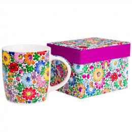 FOLK kubek w pudełku Hania – ludowe wzory z opolskiej ceramiki