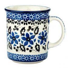 Kubek wywijany - ceramika Bolesławiec - polne kwiaty