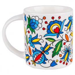 FOLK kubek Janek – ludowe kwiaty z kaszubskich haftów