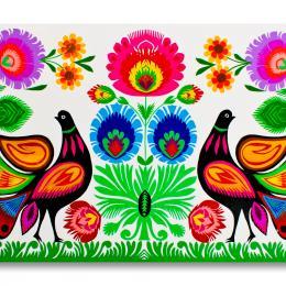 Tradycyjna kodra kwiatowa łowicka - ptaki