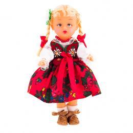 Lalka ludowa - góralski strój regionalny | 23 cm