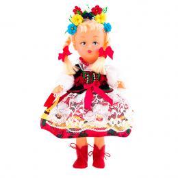 Lalka ludowa - krakowski strój regionalny | 23 cm