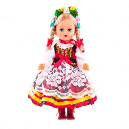 Lalka ludowa - krakowski strój regionalny | 30 cm