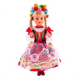 Lalka ludowa - krakowski strój regionalny | 40 cm
