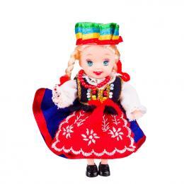 Lalka ludowa - kujawski strój regionalny | 11 cm