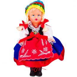 Lalka ludowa - kujawski strój regionalny | 23 cm