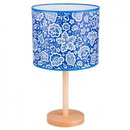 Lampa stojąca FOLK - duża - kujawska niebieska