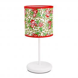 Lampa stojąca FOLK - mała - góralska biała