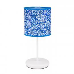 Lampa stojąca FOLK - mała - kujawska niebieska