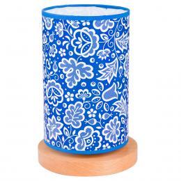 Lampa stojąca FOLK - średnia - kujawska niebieska