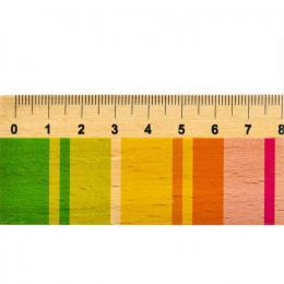 Linijka drewniana - 20 cm - pasiak