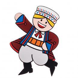 Magnes drewniany folk Zamościanin FOLKO LUDKI - tradycyjny strój ludowy