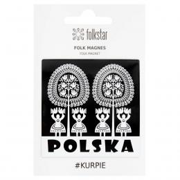 Magnes FOLK – kurpiowski POLSKA czarny