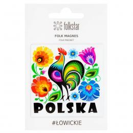 Magnes FOLK łowicki – kogut POLSKA