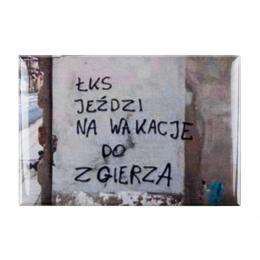 Magnes wypukły kibicowski - ŁKS jeździ na wakacje do Zgierza