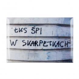 Magnes wypukły kibicowski - ŁKS śpi w skarpetkach